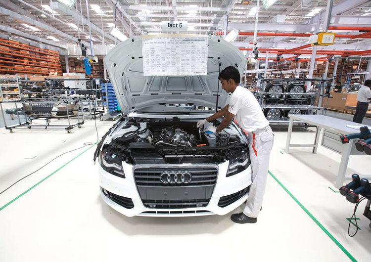 Audi A4 production in Aurangabad, India
