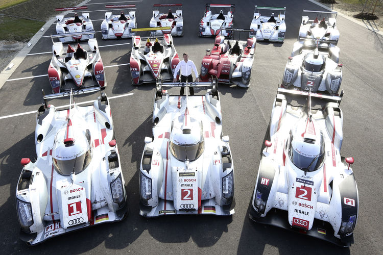 Le Mans winning Audi prototypes (2000-2014)