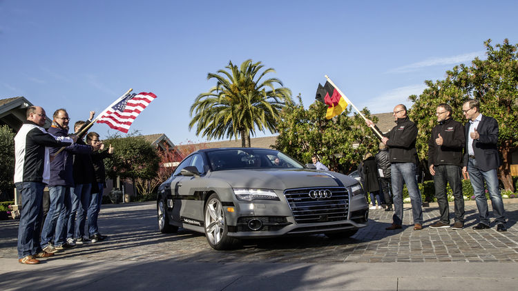 550 mile piloted drive from Silicon Valley to Las Vegas: long distance test in the Audi A7 Sportback piloted driving concept car