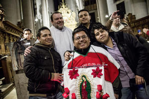 A church service for Audi employees from Mexico