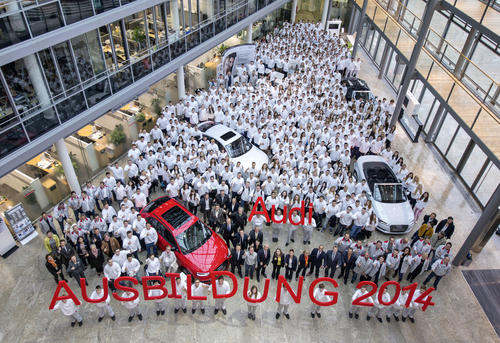 The Audi family is growing: 724 new apprentices