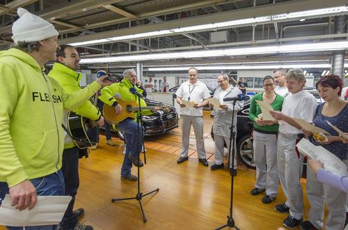 """Der Radiosender """"Bayern 3"""" zu Gast bei Audi am Standort Ingolstadt:"""