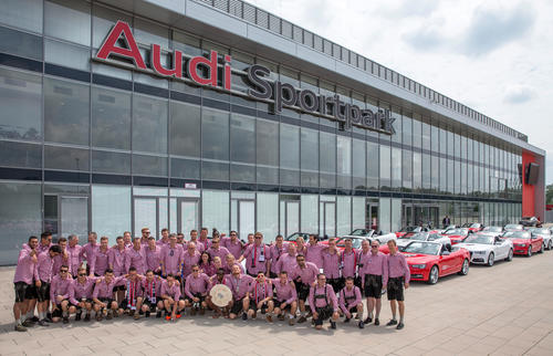 The team at the Audi Sportpark