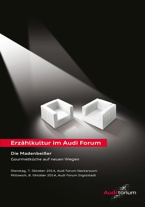 """Audi.torium """"Die Madenbeißer"""": Gourmetküche auf neuen Wegen"""