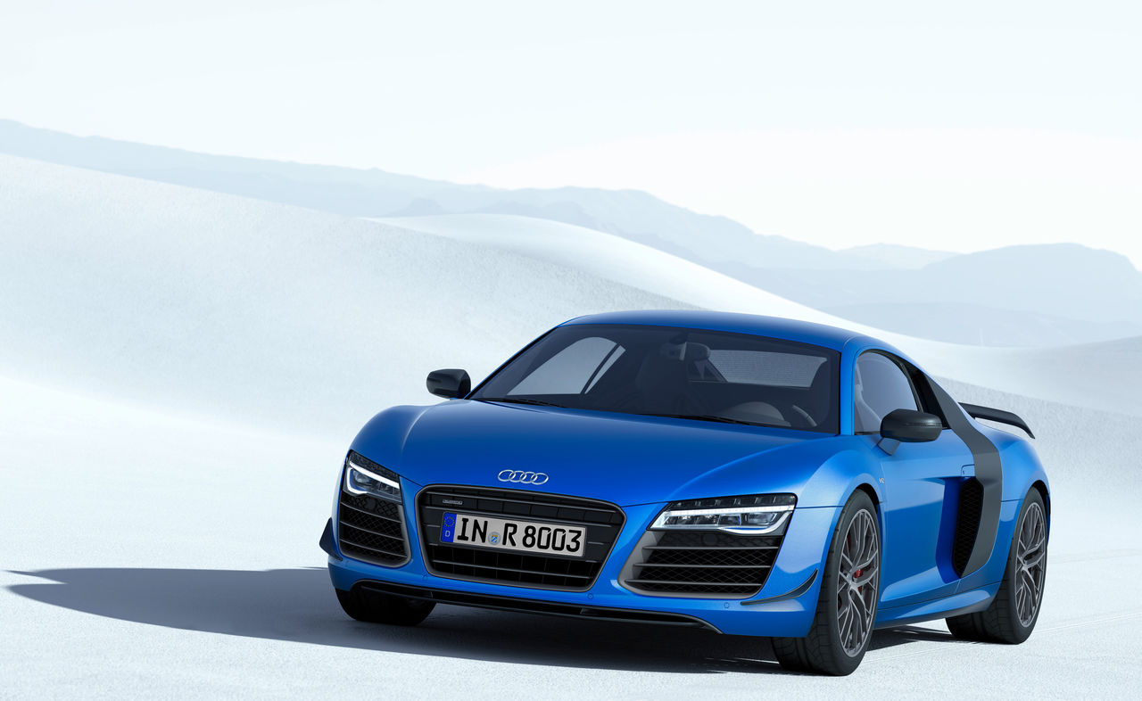 The Audi R8 Lmx World S First Production Car With Laser High Beams Audi Mediacenter