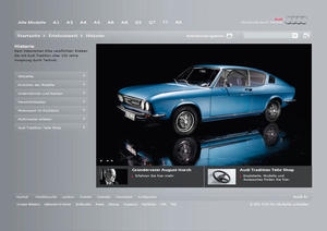"""""""Neuer Auftritt: Audi Tradition im Internet"""""""