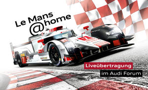 Le Mans@home:  24-Stunden-Rennen live bei Audi