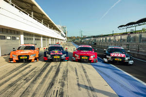 Audi-Piloten testen RS 5 DTM in Budapest