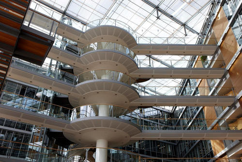 Das Gebäude Markt und Kunde am Audi Forum Ingolstadt