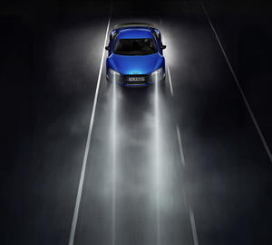 Audi R8 LMX, Fahraufnahme