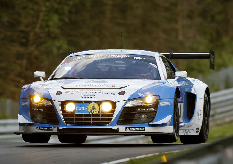 Audi customers at Nürburgring on grid positions one and three