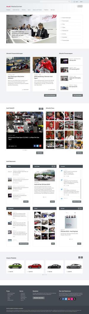 Neues Audi MediaCenter jetzt online