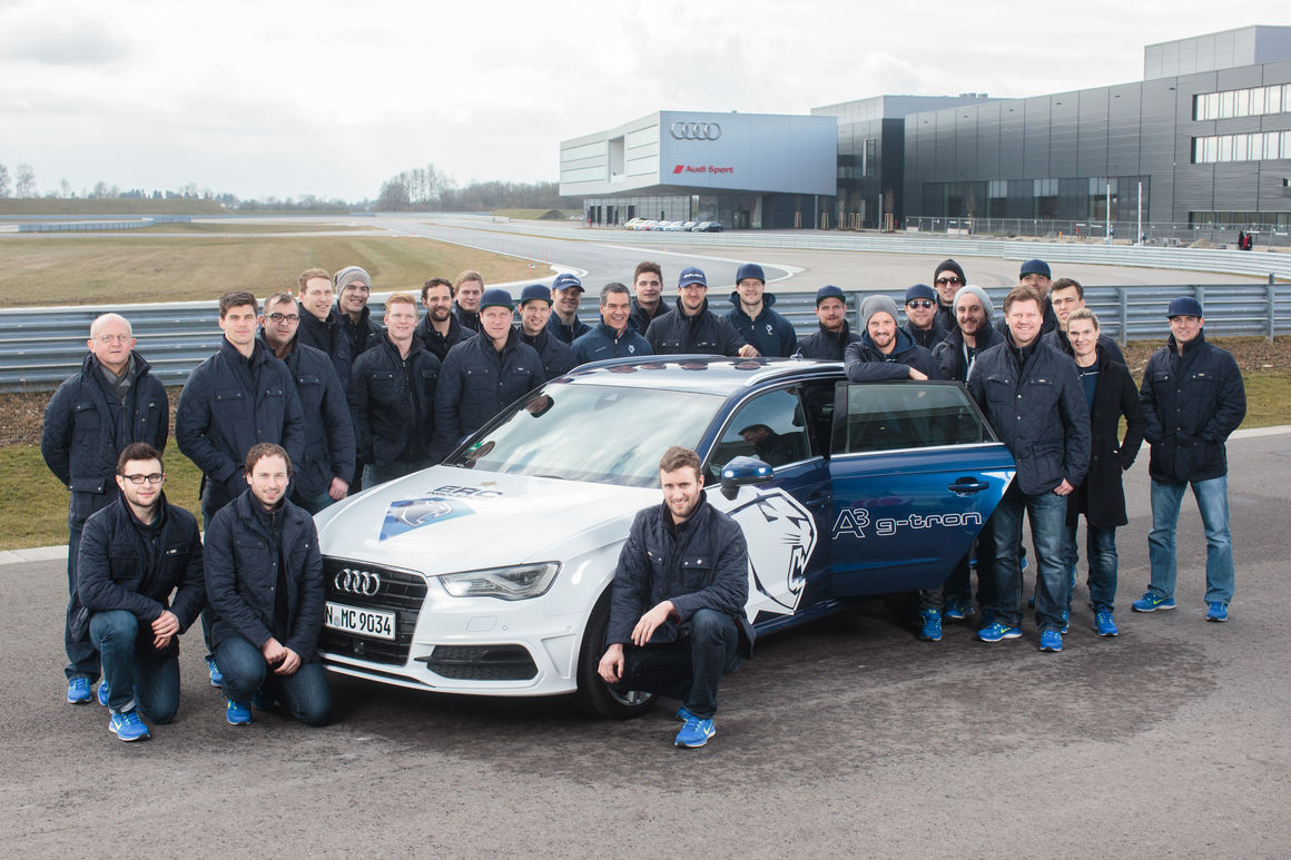 Panther meet Audi stars at Neuburg
