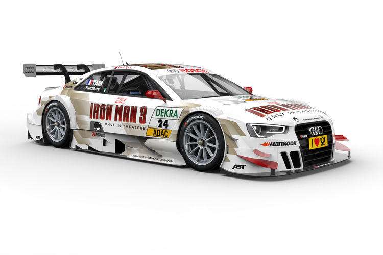 Iron Man 3: spectacular graphics on the RS 5 DTM of Adrien Tambay