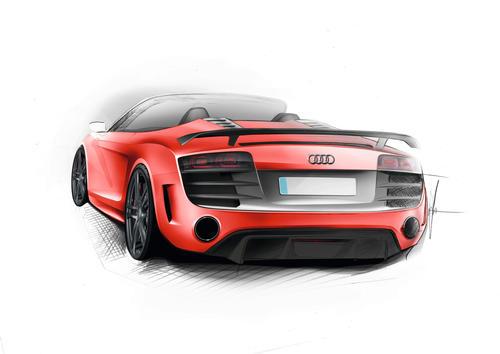 Designskizze Audi R8 GT Spyder