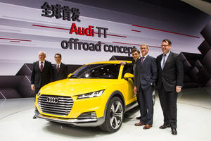 Audi auf der Audi auf der Auto China 2014 in Peking
