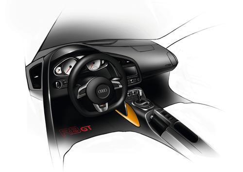 Audi R8 GT Spyder design sketch