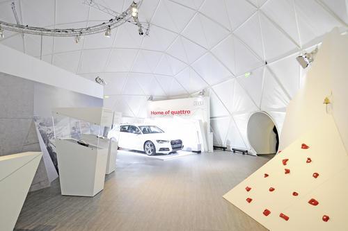 """Offroad in der Stadt: die """"Audi quattro lounge"""""""