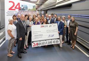 """Der Einsatz von fast 4.000 Audianern beim """"24 Stunden Lauf von Audi"""" im Mai 2015 hat sich gelohnt"""