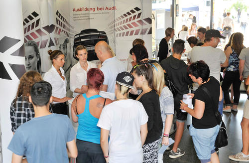 Impressions from the open house at the Audi educational center at July 11, 2015