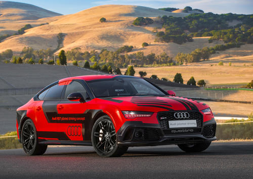 "Audi RS 7 piloted driving concept (2015 ""Robby"")"