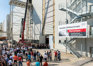 Audi celebrates topping out of new paint shop