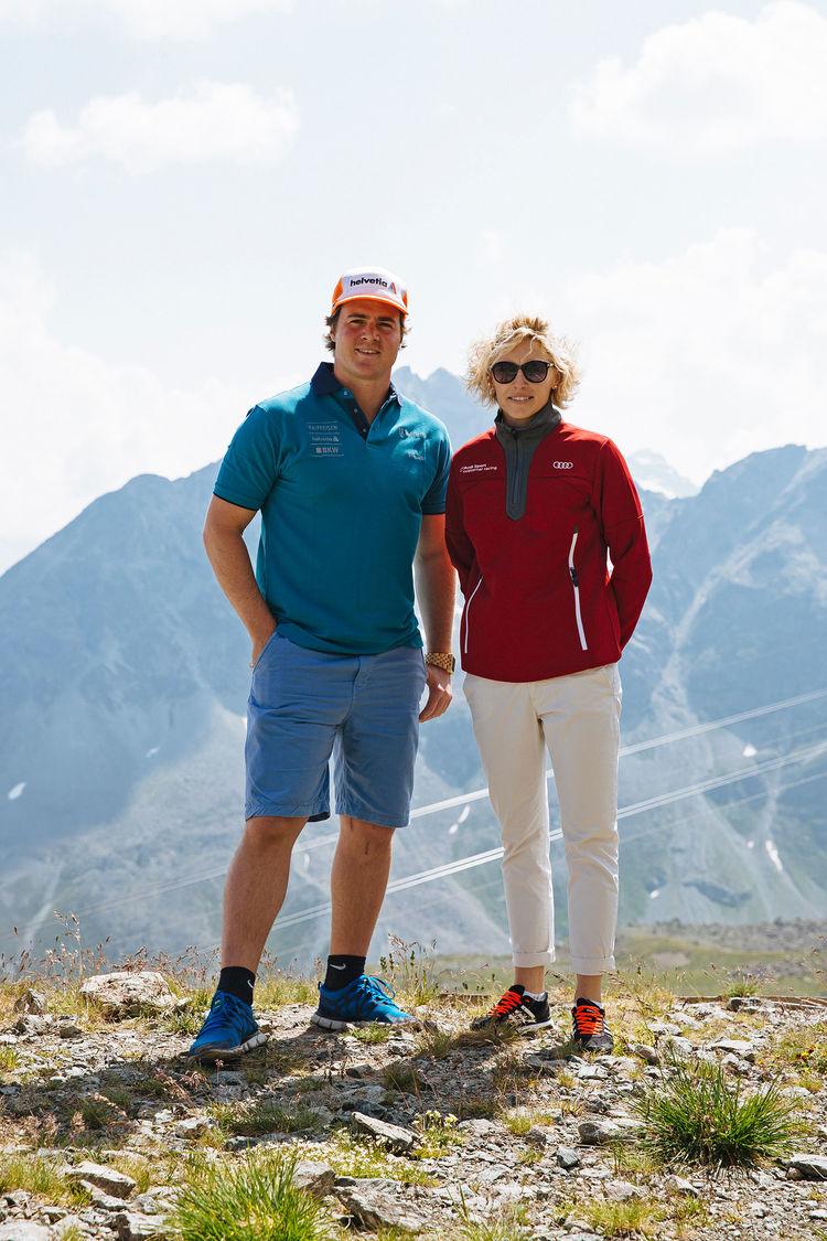 Rahel Frey at Ski Champions Golf in St. Moritz