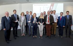Mit dem Audi-Präventionspreis fördert Audi herausragende Leistungen und Ideen seiner Mitarbeiter unter anderem in Arbeitssicherheit, Ergonomie und Gesundheitsschutz.