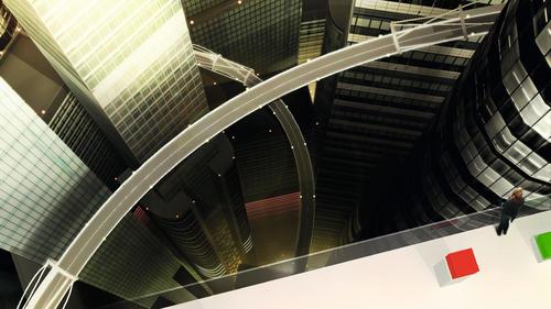 """Beim Rennspiel """"Vertical Run"""" können Audi Fans die neue Konzeptstudie e-tron schon Ende 2009 im Audi Space bei PlayStation Home fahren."""