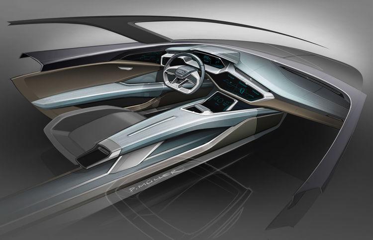 Audi e-tron quattro concept – Skizze Cockpit