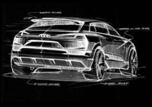 Audi e-tron quattro concept – Skizze Exterieur – Heck