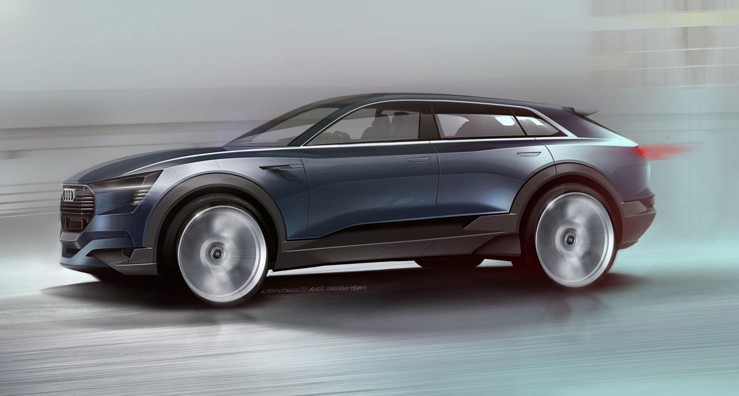 Audi e-tron quattro concept – Skizze Exterieur