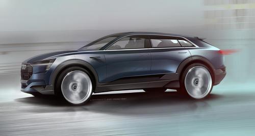 Audi e-tron quattro concept – Exterior Sketch