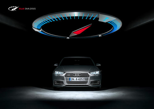 Audi auf der IAA 2015: Vier gewinnt