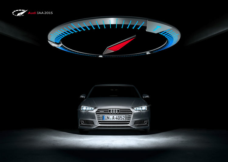 Audi at the IAA 2015: the power of four