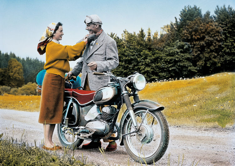 DKW, RT 175 S, one-cylinder two stroke engine, 174 ccm, 9,6 bhp, 1956