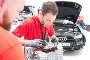 Audi Twin Cup in Wien: die Vereinten Service-Nationen