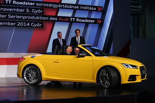 Audi Hungaria: Produktionsstart des neuen Audi TT Roadster
