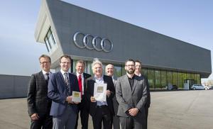 Gold für Audi: Deutsche Gesellschaft für Nachhaltiges Bauen zertifiziert Kundengebäude von Audi Neuburg