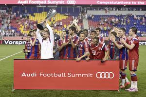 Der FC Bayern München gewinnt den Audi Football Summit in New Jersey