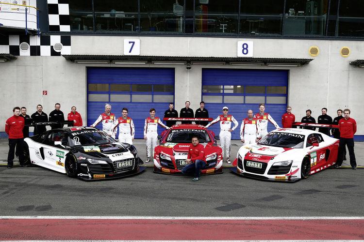 Seven Audi R8 LMS ultra cars on ADAC GT Masters grid