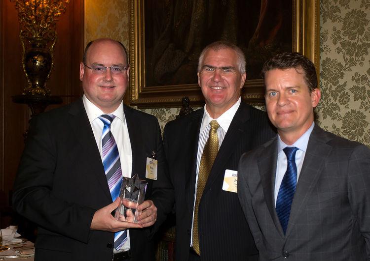 "Ricky Hudi, Leiter Entwicklung Elektrik/Elektronik der AUDI AG, bei der Preisverleihung ""Eurostar Award"""