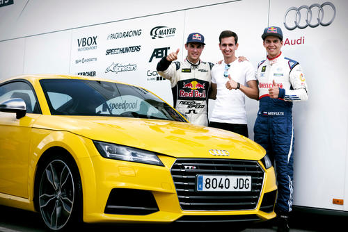 Audi Sport TT Cup drivers at FIA World Rallycross Championship, Barcelona