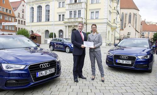 Nachhaltig unterwegs – der Audi A3 Sportback g-tron überzeugt die Stadt Ingolstadt