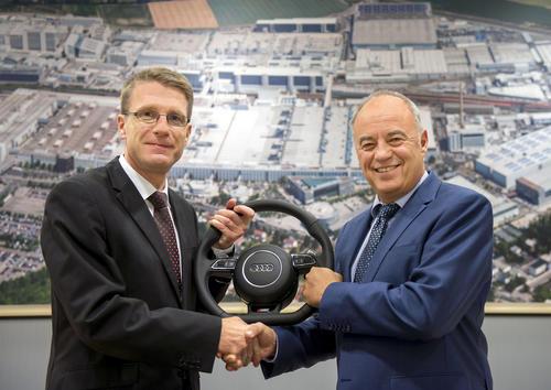 """""""Fahrerwechsel"""" am Audi-Standort Ingolstadt:"""