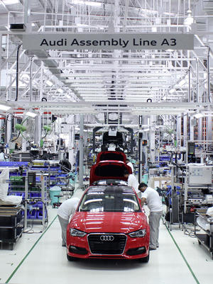 Start of production of the Audi A3 Sedan* in Aurangabad in July 2014.