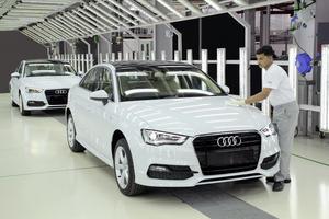 Im Juli 2014 hat die Produktion der Audi A3 Limousine* in Aurangabad begonnen.