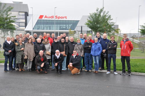 Belgian Audi Club members visit the Böllinger Höfe plant