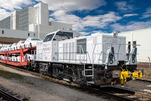 Hybrid locomotive at Audi plant in Ingolstadt