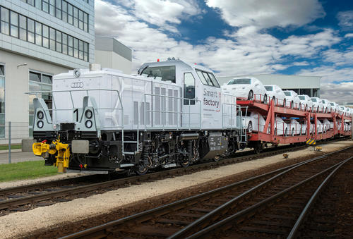 Hybrid Lokomotive im Audi Werk Ingolstadt